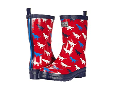 Hatley Kids T-Rex Silhouettes Shiny Rain Boots (Toddler/Little Kid) (Red) Boys Shoes