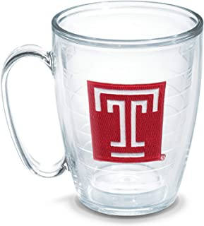 Tervis Temple University Emblem Individually Boxed Mug, 16 oz, Clear - 1085333