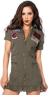 Leg Avenue Women's Licensed Top Gun Flight Dress Costume