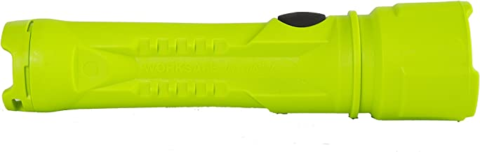 Bright Star 60101 Intrinsic LED Razor, 3 AA-Cell LED Flashlight, 125 Lumens, 170M Beam Distance, 24 Hours Run Time, Waterproof Seal, High-Vis Green