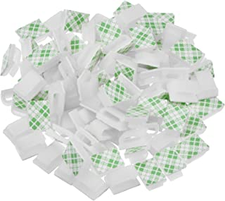 Hicarer 100 Pieces Adhesive Cable Clips Wire Clips Cable Management Wire Cord Holder 13 x 10 mm White Hicarer-Cable Clips-01