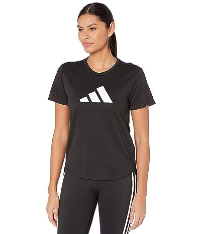 adidas Badge Of Sport Logo Tee (Black/White) Women