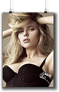 Scarlett Johansson Actress Movie Photo Poster Prints 249-001 Reprint Signed,Wall Art Decor for Dorm Bedroom Living Room (A4|8x12inch|21x29cm)