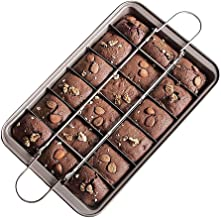 CANDeal Brownie Tin, Brownie Tray with Dividers Non-Stick Brownie Pan Square Cake Mould Brownie Maker Kitchen Ovenware Coo...