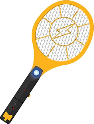 Smash Bugs Electric Bug Zapper Racket – USB Rechargeable –Fly Swatter Zap Mosquito - Indoor and Outdoor - Pest Control - Fly Killer - Super Bright LED Light (1 Pack)