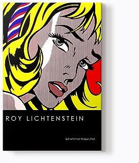 PlusCanvas - Girl with Hair Ribbon - Roy Lichtenstein - 80 x 120cm (32