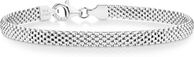 Miabella Omaha Mall 925 Sterling Silver Italian Bracele Chain 5mm Link Mesh Ranking TOP5