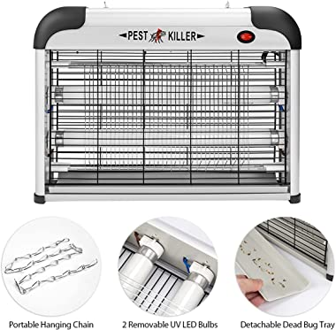 Electric Bug Zapper/Pest Repeller Control-Strongest Indoor 2800 Volt UV Lamp Flying Fly Insect Killer Mosquitoes Files Killer