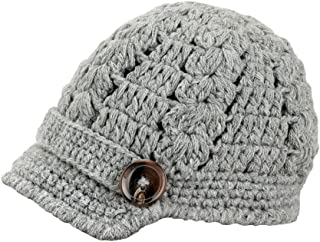 Bestknit Baby Boy Boy Crochet Baby Hat newsboy Button