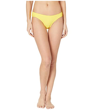 Jessica Simpson Rose Bay Side Shirred Hipster Bottoms (Lemon) Women