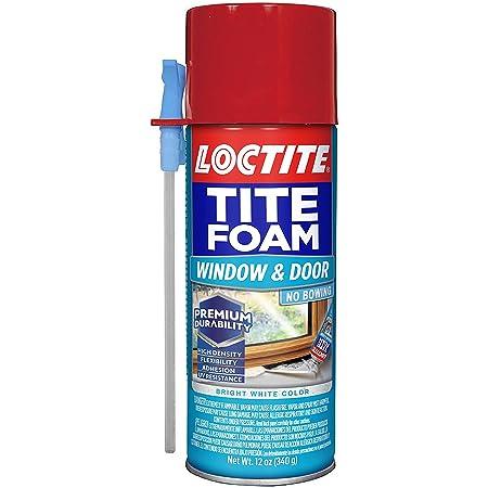 Loctite 2243625 Tite Foam Window & Door Sealant, Polyurethane Foam, White