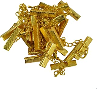 Prettyia 12x Crimp Clips End Lobster Clasp Extender Chain DIY Jewelry Findings Bronze