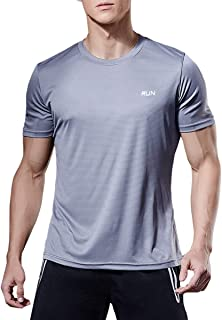 HIBETY 3 or 4 Pack Men's T-Shirt Short Sleeve,Quick Dry Gym Athletic Shirts,Lightweight Breathable Running Workout Shirts