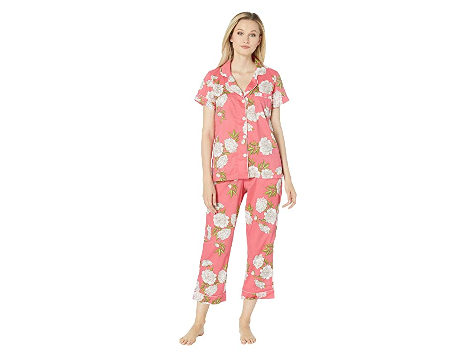 BedHead Pajamas Short Sleeve Cropped Pajama Set (Hermosa Bloom) Women