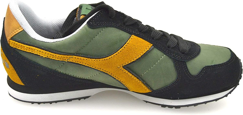 Diadora Man Sneaker shoes Green and Brown Code K_Run L 159863 01 C5532