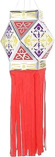 Diwali Lantern - Aakash/Akash Kandil, Ashtkone Style Paper Lantern (Red)