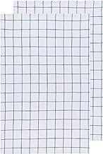 Now Designs 2245002aa Vintage Wash Cotton Dishtowels, Set of Two, Delft Blue
