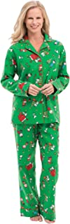 Image of Classic Flannel Peanuts Snoopy Christmas Pajamas for Women