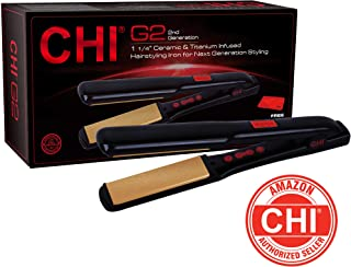 CHI G2 Ceramic and Titanium Hairstyling Iron, 1.25 Inch
