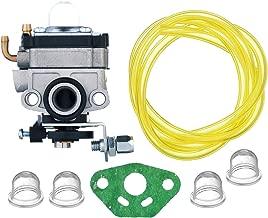 HIFROM Carburetor with Primer Bulb Fuel Line Gasket for Troy-Bilt TB26TB TB475SS TB525CS TB146EC TB590BC TBE515 TB575SS Gas Trimmer