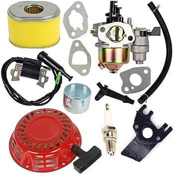 Carburador con bobina de encendido de arranque de retroceso para Honda GX140 GX 160 GX168 GX200 5HP 5.5HP 6.5HP Motor
