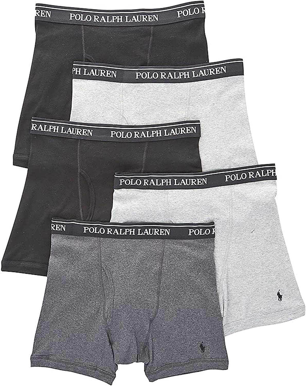 Polo Ralph Lauren Men's Classic Fit w/Wicking 5-Pack Boxer Briefs