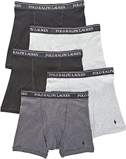 Men's Classic Fit w/Wicking 5-Pack Boxer Briefs