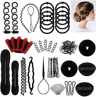 Winkeyes Hair Styling Set, Hair Design Styling Tools Accessories DIY Hair Accessories Hair Modelling Tool Kit Hairdresser ...