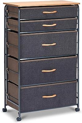 Amazon.com: Household Essentials 8035-1 Wooden 5 Drawer ...