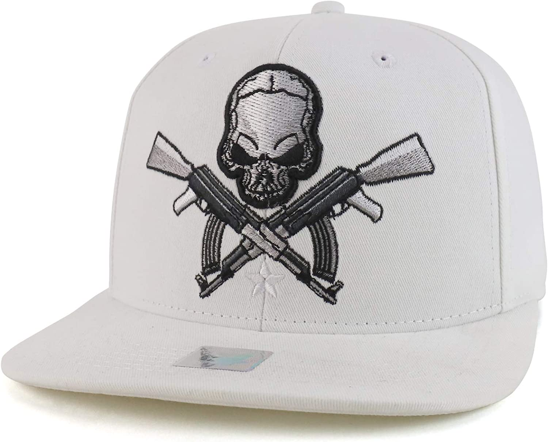 Trendy Ranking TOP18 Apparel store Shop Skull AK47 Embroidered Flat Rifle Gun Cotton