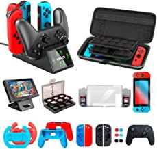 OIVO Accessories Kit Bundles Compatible with Nintendo Switch Starter, Accessories Bundle Kit for Nintendo Switch Console (... photo