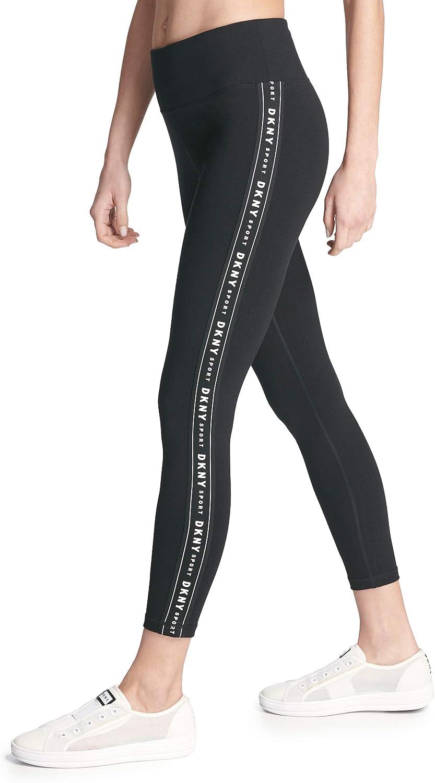 DKNY Damen High Waist Logo Taping Leggings