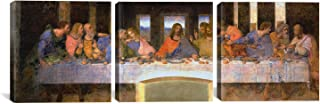 iCanvasART 3-Piece The Last Supper by Leonardo Da Vinci Canvas Art Print, 48 by 16-Inch