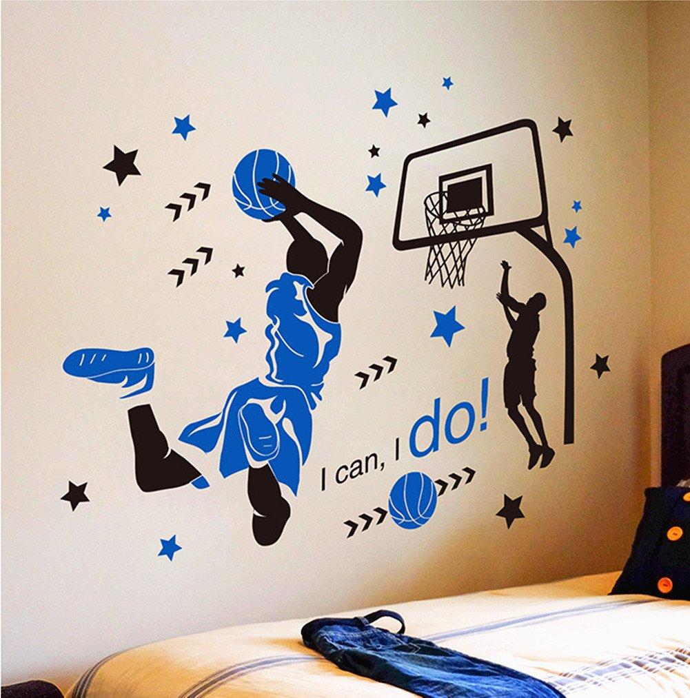 Huge Basketball Wall Decal Decor Art Stickers By Happywallz 149 99 Basketball Room Basketball Themed Bedroom Basketball Wall