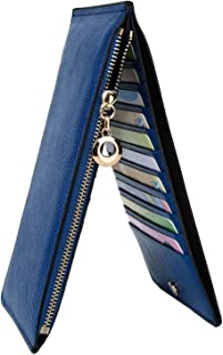 YALUXE Wallet for Women RFID Blocking Genuine Leather Multi Card Organizer with Zipper Pocket