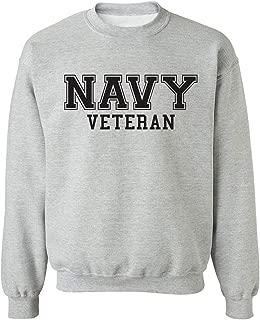 zerogravitee Navy Veteran Black Logo Military Style Physical Training Crewneck Sweatshirt