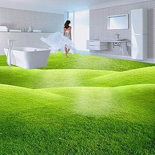 3D Floor Wallpaper Custom Hd Photo Wallpaper Green Meadow Bathroom Living Room Floor Self-Adhesive Pvc Waterproof Wallpape...