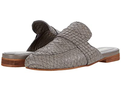 KAANAS Milan Snake Embossed Loafer Mule (Grey) Women