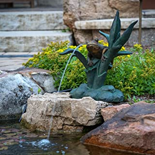 Aquascape Frog on Reed Spitter Fountain for Ponds and Water Gardens   78305