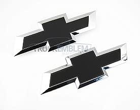 Truck Emblem Warehouse 2 New Custom Black & Chrome Silverado 1500 2016-2018 Grill Tailgate Bow TIE Set