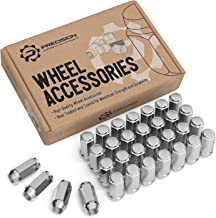 StanceMagic 32pcs Silver Chrome Bulge 1/2x20 Lug Nuts - Conical Cone Taper Acorn Seat Closed End Extended - 1.8 inch Length - fits 8Lug Dodge Chevy Ford - Installs with 19mm or 3/4 inch Hex Socket
