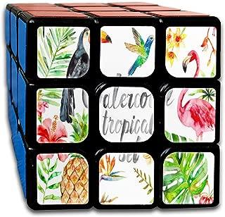 Speed Cube 3x3 Amazing Magic Cube Sticker Watercolor Unicorn Art Puzzles Toys (56mm)