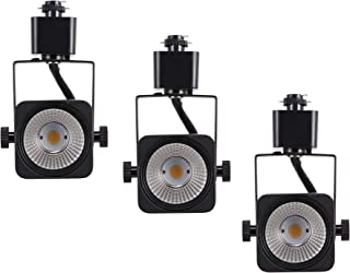 Cloudy Bay 8W Dimmable LED Track Lights Head,CRI 90+ Warm White,Adjustable Tilt Angle Track Lighting Fixture,40° Angle for Accent Retail,Black Finish, Halo Type - 3 Pack