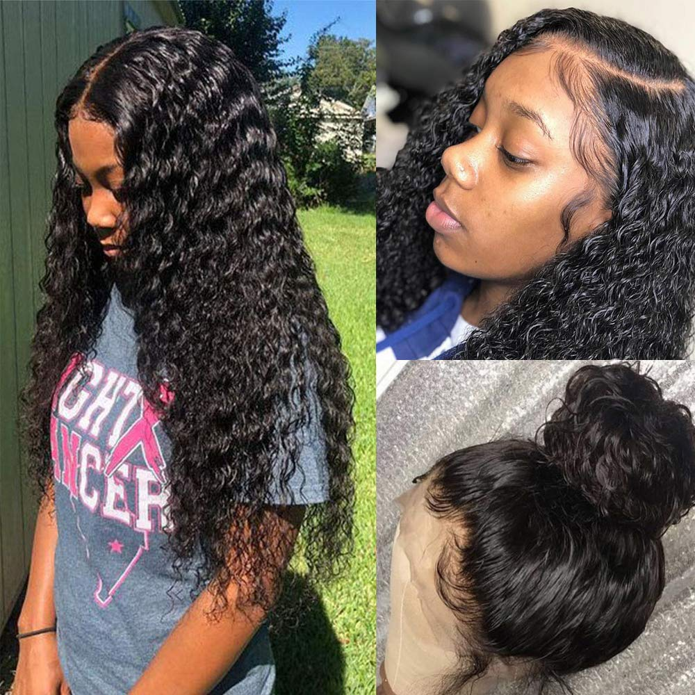 Water Wave lace Front Wigs with Hair 100% Washington Mall Plucked 35% OFF Unpro Pre Baby