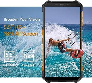 """Ulefone Armor 6s IP68防水頑丈ロック付き携帯電話、Android 9.0屋外スマートフォン6.2""""19:9 FHD +、Helio P70 6GB + 128GB、デュアル4G LTEグローバルバンド、GPS + GLONASS + NFC、5000mAh (黑)"""