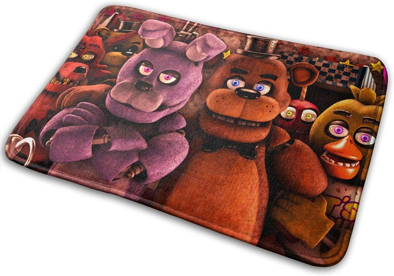 POYOMUK Indoor/Outdoor Doormat with Five Nights at Freddy's Printed for Kitchen Hallway Bathroom