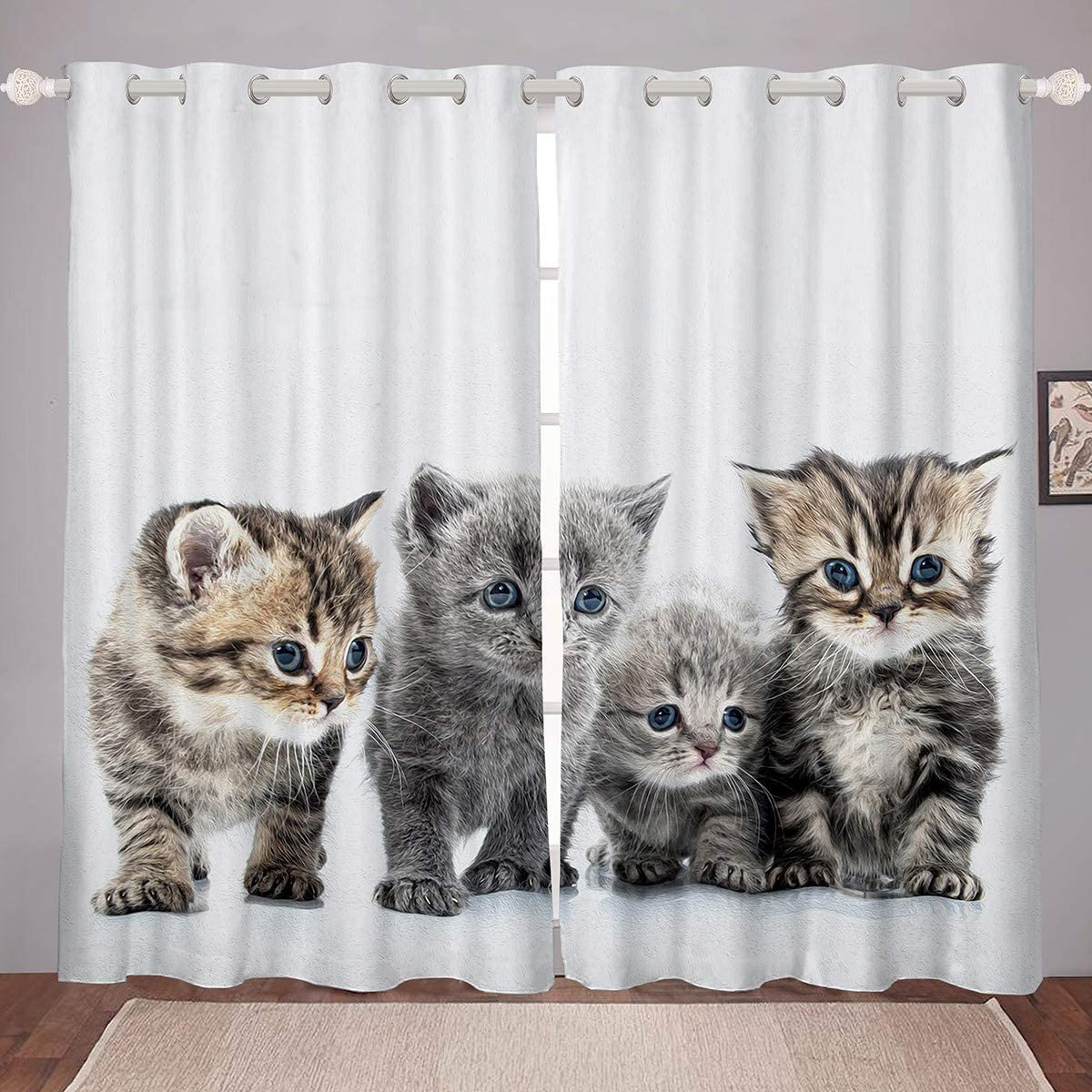 Little Cat Window security Drapes Lovely Pet Purchase Cats L Treatments