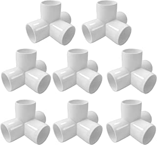 SELLERS360 4Way 1inch Tee PVC Fitting Elbow 1in - Build Heavy Duty PVC Furniture - PVC Elbow Fittings [Pack of 8]