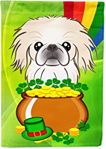 Caroline's Treasures BB1965GF Pekingese St. Patrick's Day Flag Garden Size, Small, Multicolor