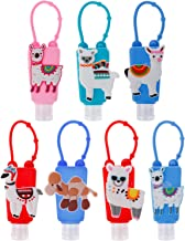 Ioffersuper 7Pcs 30ML Refillable Bottles with Cute Alpaca Detachable Silicone Protective Case for Kids Gift Travel Portable Bottles Plastic Refillable Containers-Random Colors/No Liquid